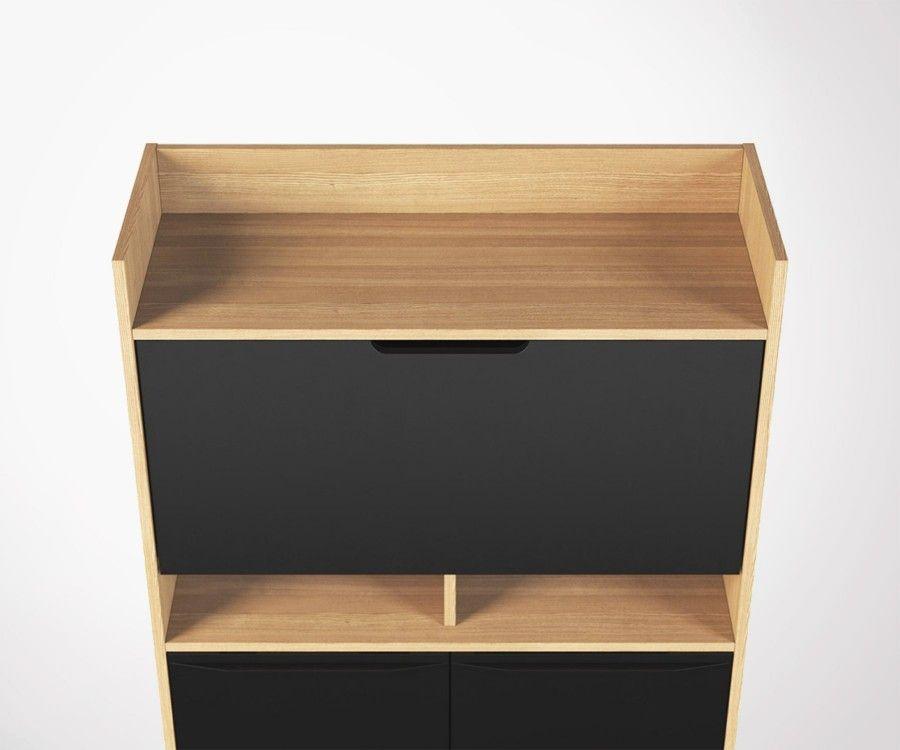Chaise de bureau noir avec accoudoirs katari design sur sofactory