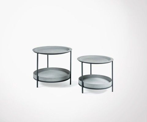 Tables gigognes métal et ciment RILI