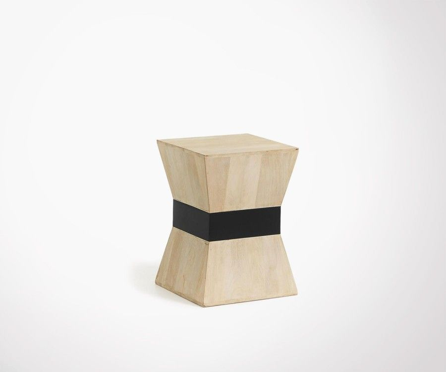Table d 39 appoint en bois manguier design et contemporaine hove - Table d appoint contemporaine ...
