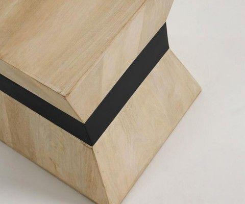 Table d'appoint bois naturel style ethnique HOBA