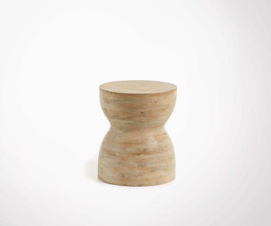 Table d'appoint 40cm bois naturel MAZTEK