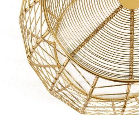 Table d'appoint laiton doré style art déco RONY
