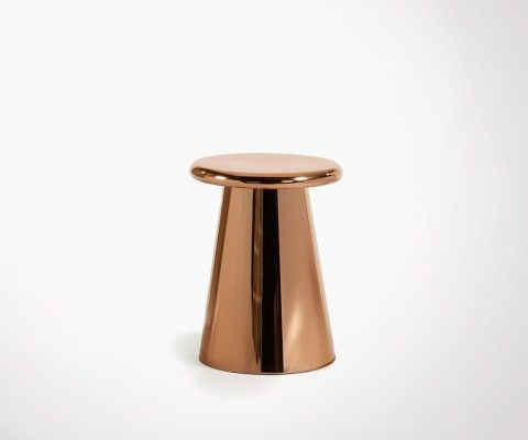 CHEST copper metal side table 41cm
