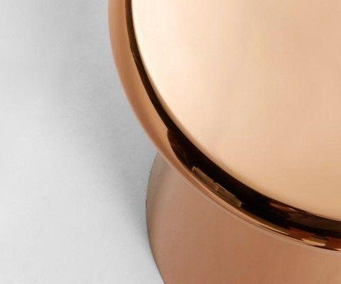 Table d'appoint 41cm métal cuivré CHEST