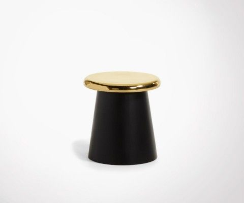 Golden brass side table BUTON