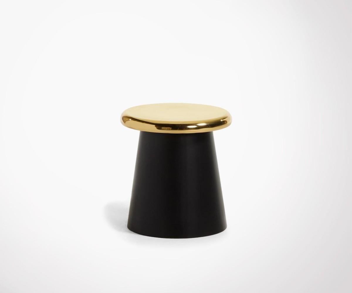 table d 39 appoint en m tal et laiton dor buton design l gant. Black Bedroom Furniture Sets. Home Design Ideas