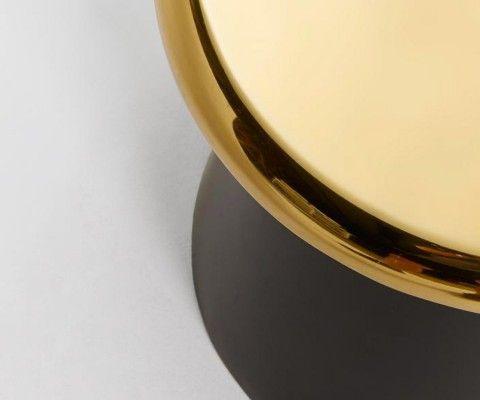 Table d'appoint design metal laiton doré BUTON
