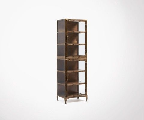 Shelf column 55x180cm coppered metal WOLE
