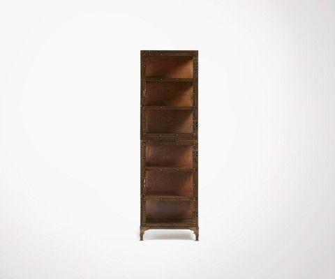 Étagère colonne 55x180cm métal cuivré WOLE