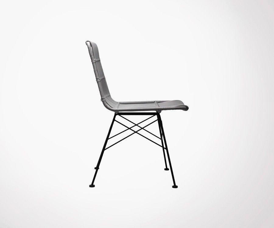 Lot 2 chaises extérieur aspect rotin SURABAYA