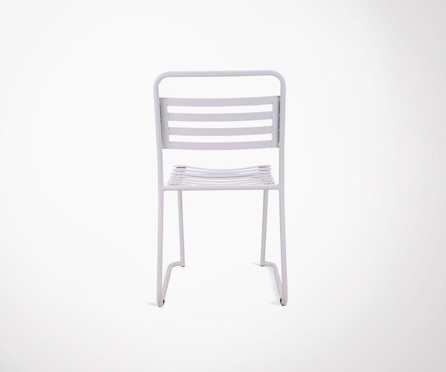 Lot 2 chaises extérieur en métal PARK