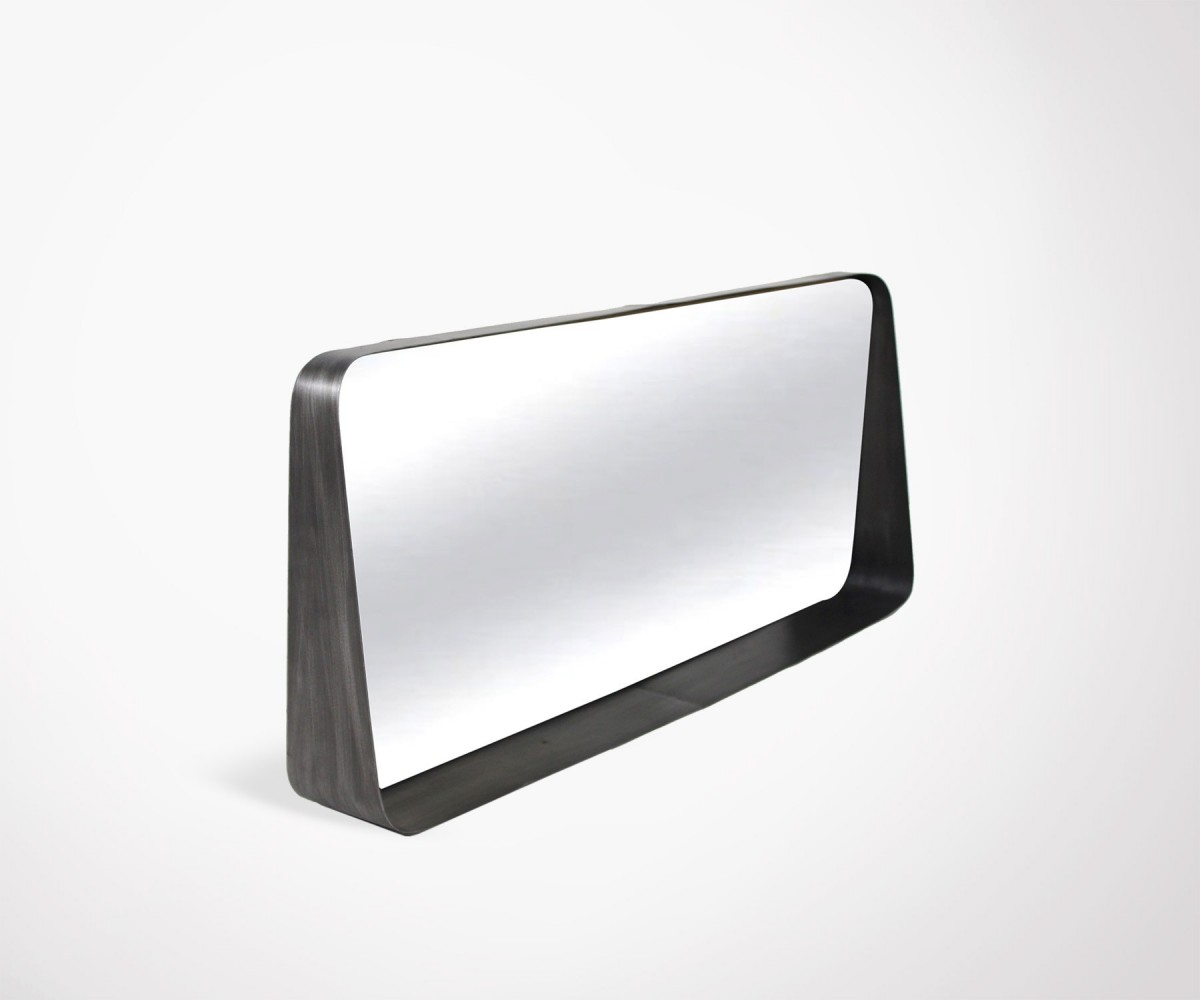 Miroir design horizontal 75 cm en m tal bloom marque for Miroir horizontal