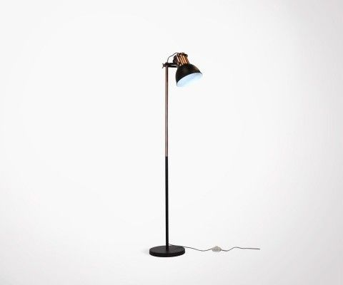 136cm industrial style copper metal floor lamp HARLEY