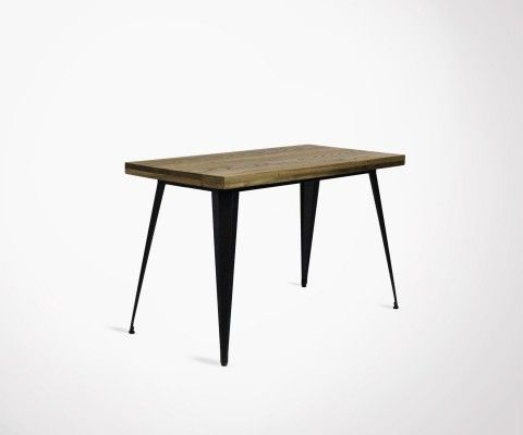 Industrial style 120cm metal wood dining table TUCKER