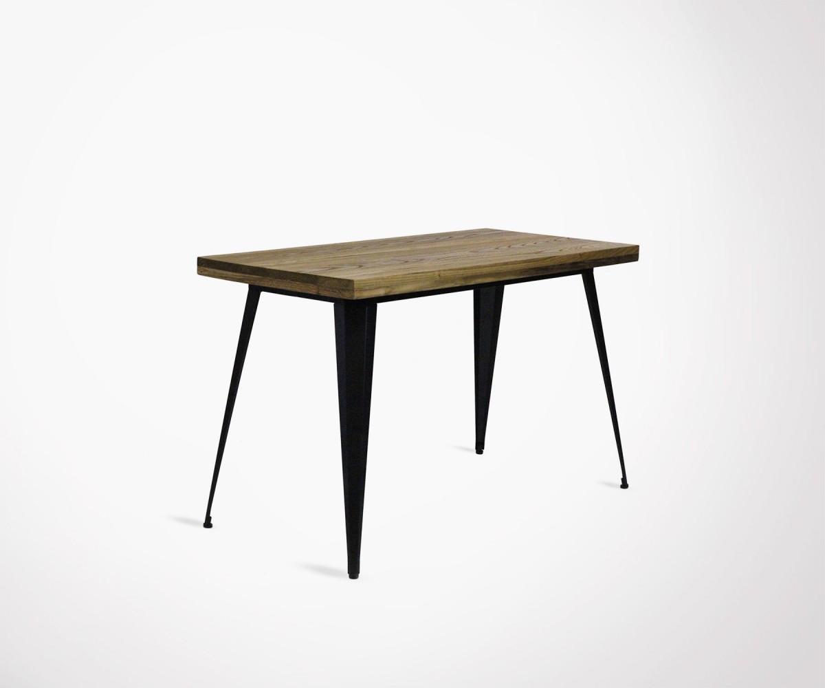 Grande table à manger Red Cartel bois et métal 6 cm style industriel