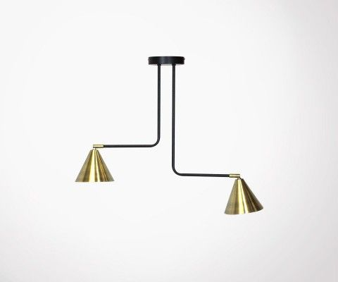 Pendant light gold metal design STUDIO