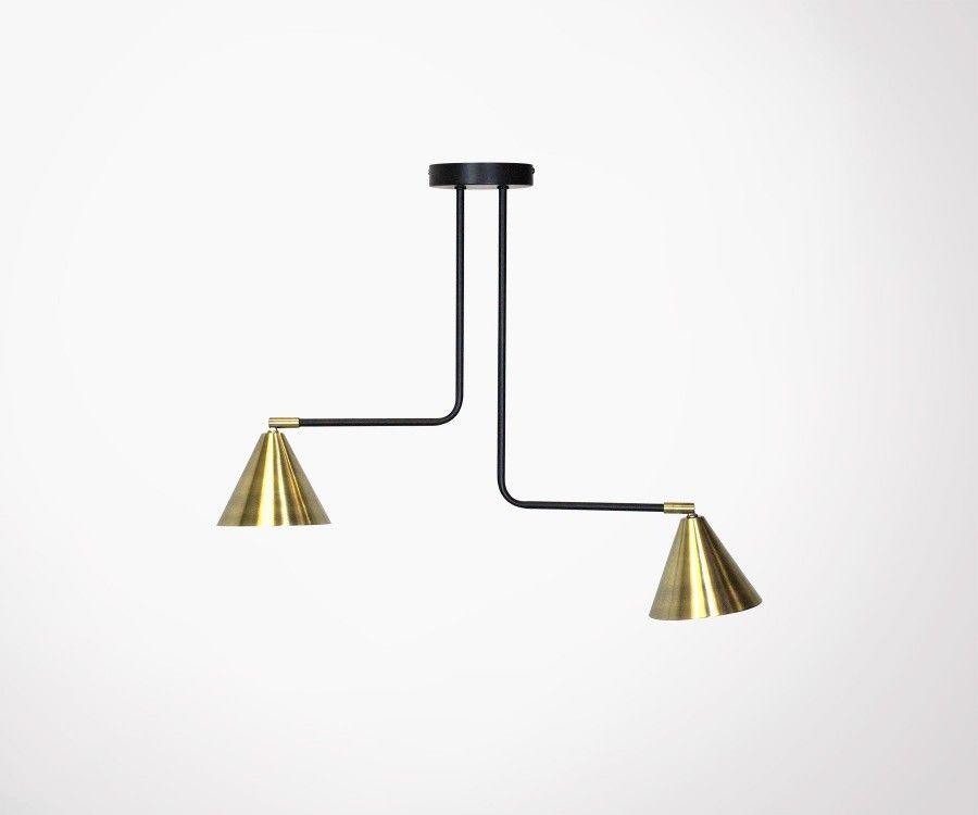 Suspension luminaire métal doré design STUDIO