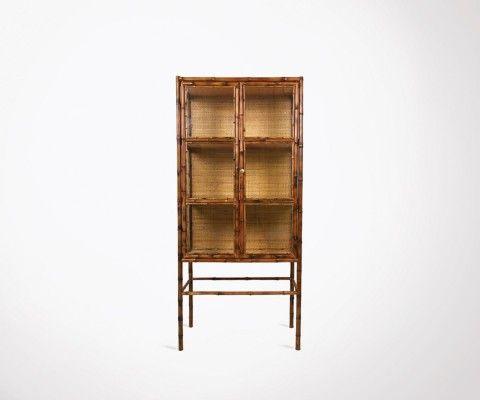 Bamboo style cabinet ethnic 153cm BINO - HK Living
