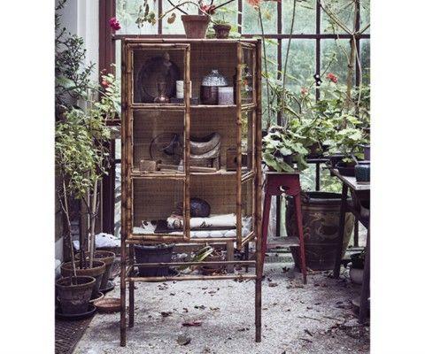 Armoire bamboo style ethnique 153cm BINO - HK Living