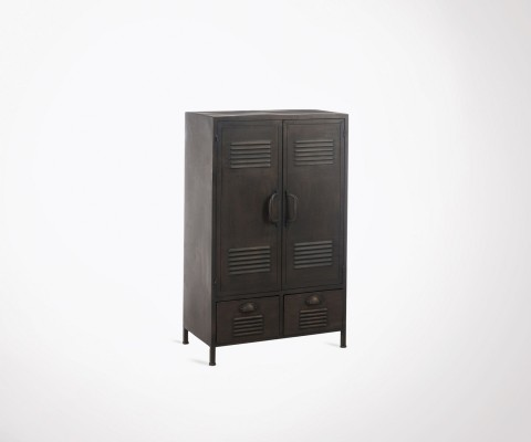 Small 107cm locker gray metal CLAST