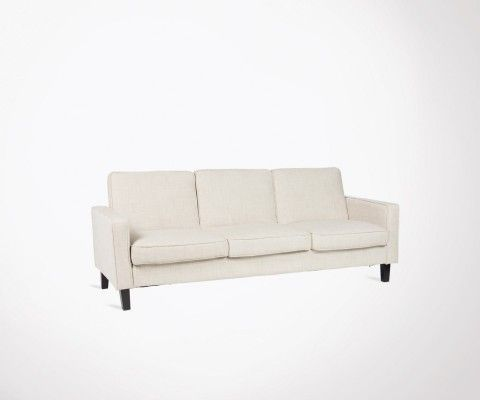 3 seater sofa bed 207cm modern style fabric BEDGOR