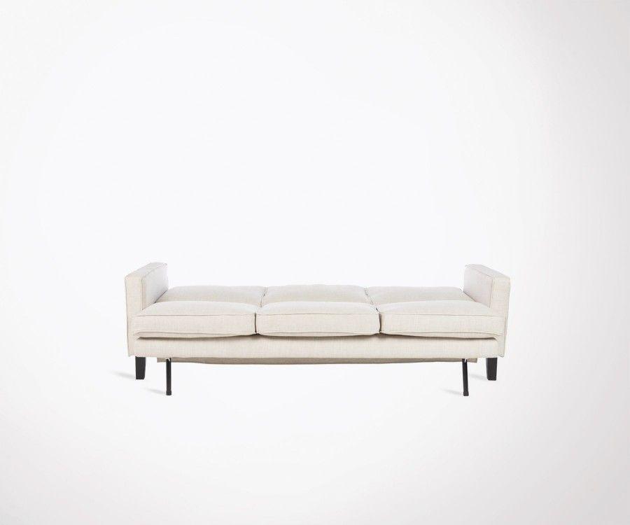 Canapé lit 3 places 207cm tissu style moderne BEDGOR