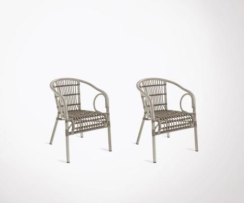 2 chaises extérieur style ethnique HILMA