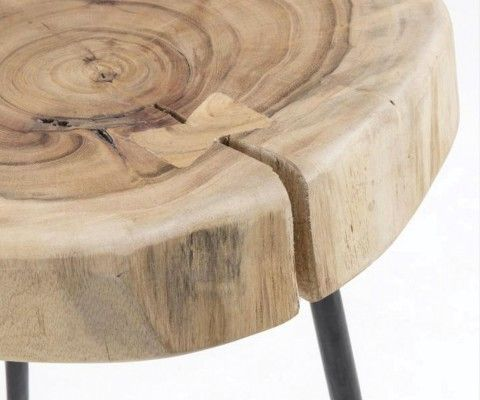 Table d'appoint style ethnique bois acacia BEBERE