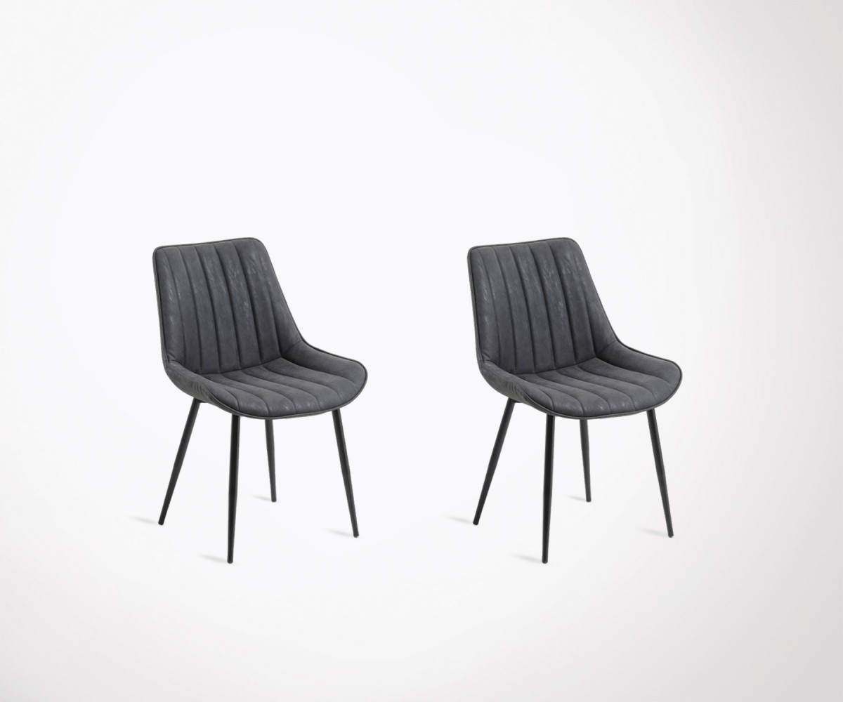 2 chaises salle manger assises rembourres nola loading zoom - Chaise Salle A Manger Design 2