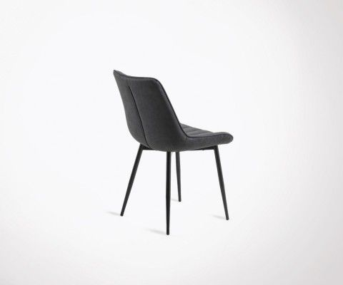 2 chaises salle à manger assises rembourrées NOLA