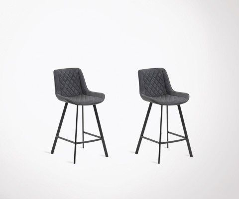 Set of 2 upholstered design bar stool LADALYS