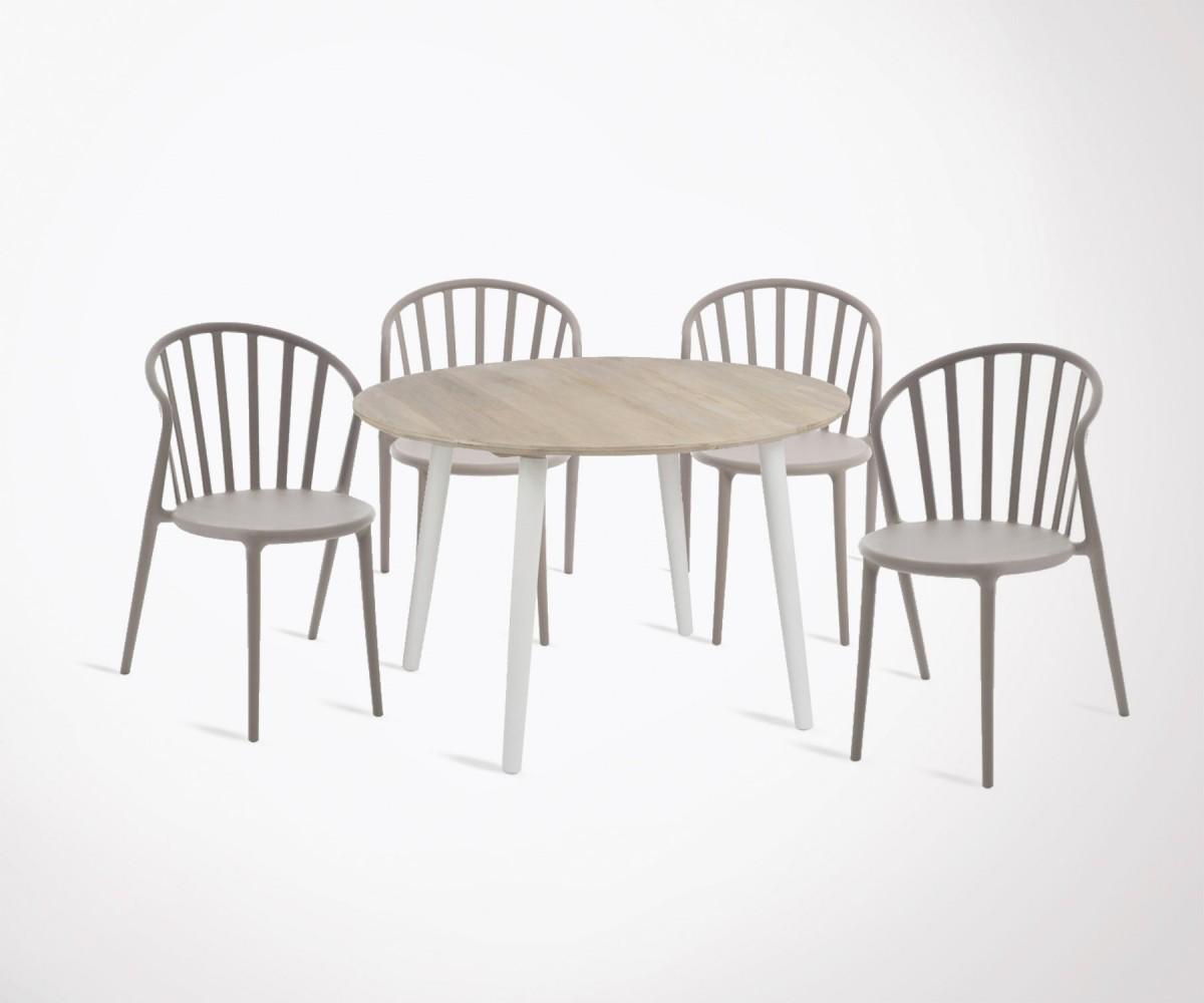 ensemble table manger moderne 120cm 4 chaises. Black Bedroom Furniture Sets. Home Design Ideas