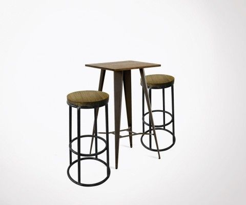 High table COSTY + 2 bar stools OLDEN