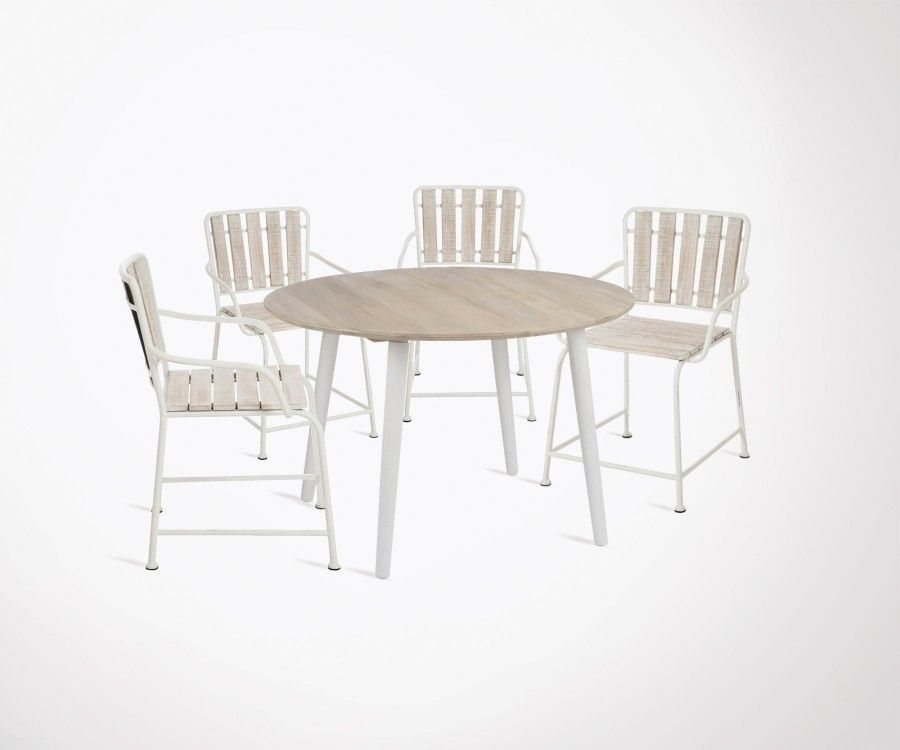 Modern dining table 120cm 4 country style dining chairs best seller