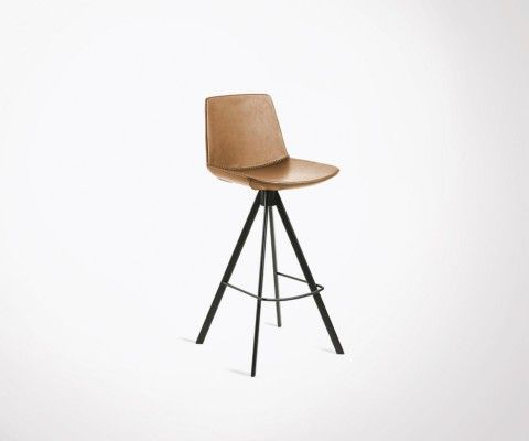 Bar stool 104cm imitation leather and metal DANBU
