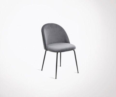 Chaise crapaud tissu design moderne NYAK