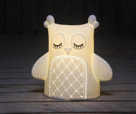 Lampe de chevet enfant céramique CHOUETTE