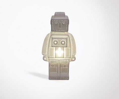 ROBOT porcelain child bedside lamp