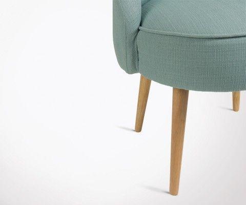 Chaise design rembourrée tissu CELMINE