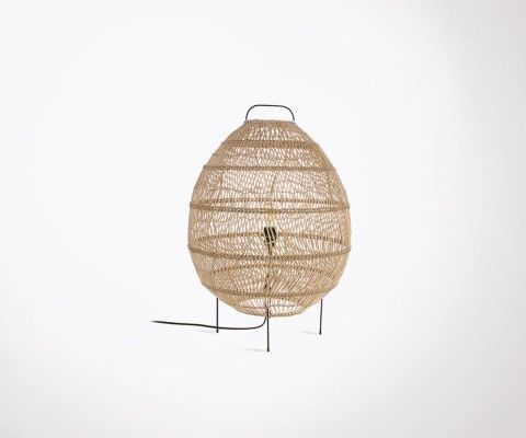 WALNUT table lamp egg-shaped MARGAUX