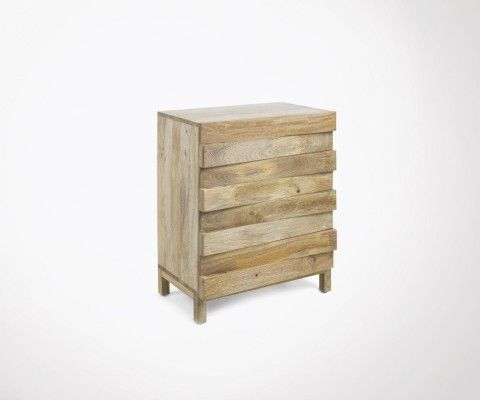 PAULINE natural mango wood commode