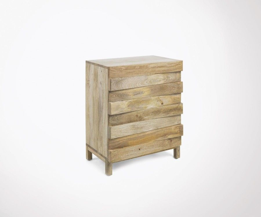 Commode bois manguier naturel PAULINE