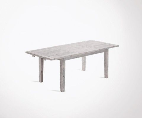 LEO extensible dining table 160-220cm white wood