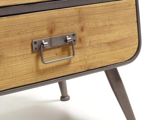 Commode bois métal gris GUILLAUME