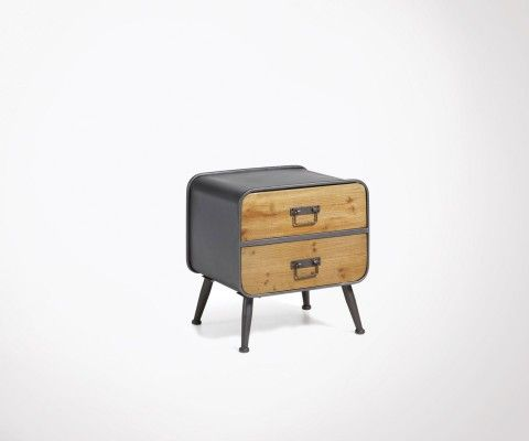 Table de chevet design style scandinave - Table de nuit industriel ...