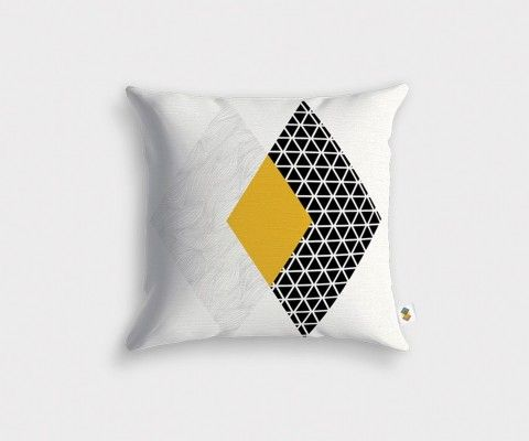 Geometric cushion cover TRISQUARE