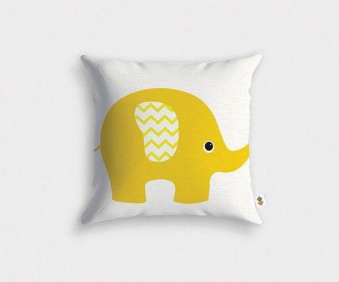 Housse de coussin décoration éléphant BARN