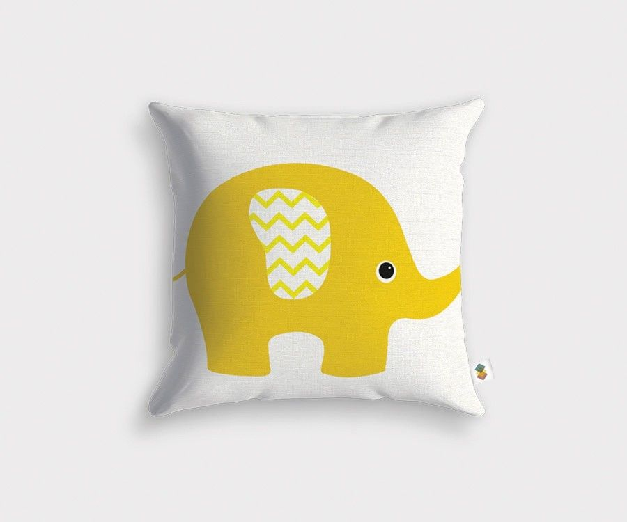 Yellow BARN Cushion - 45x45cm