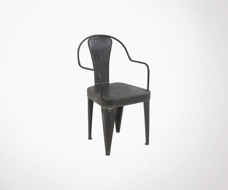 Chaise métallique avec accoudoirs TRED