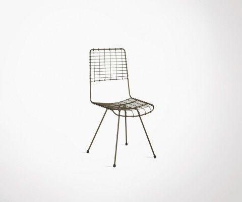Chaise design tiges métalliques WALBY